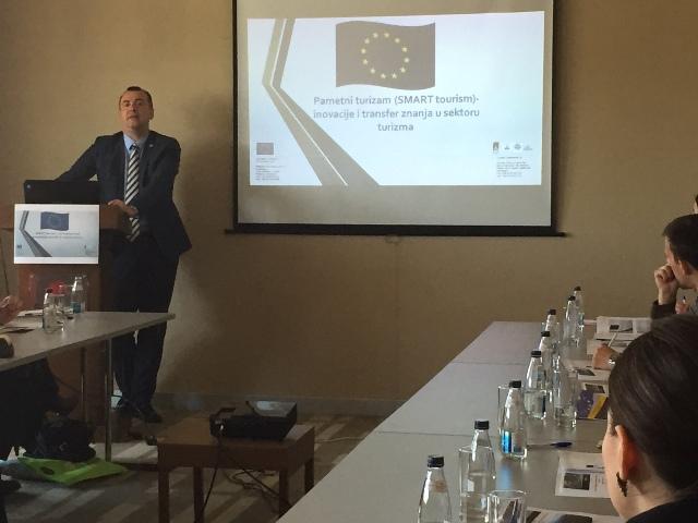 """Organizovanje seminara u sklopu projekta """"Pametni turizam -  Inovacije i transfer znanja u sektoru turizma"""""""