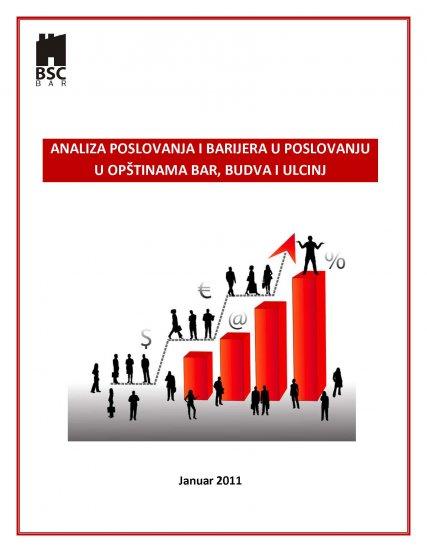Analiza poslovanja u opstinama Bar, Ulcinj i Budva 2011