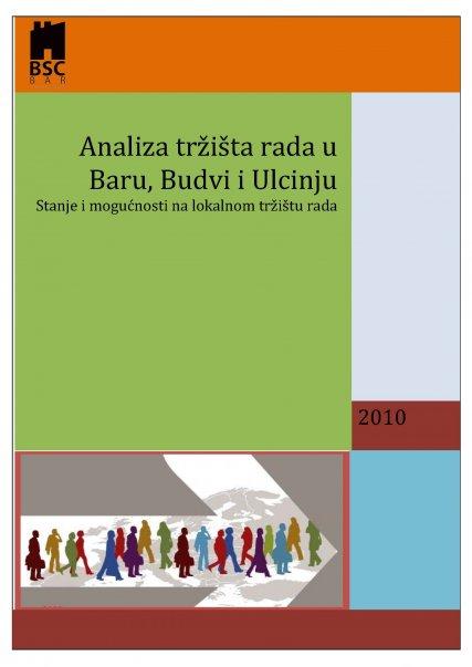 Analiza trzista rada u Baru, Budvi i Ulcinju 2010